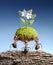 Stock Image : Муравеи приносят живущую природу на непромышленных породах, принципиальную схему