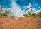 Stock Image :  Обрабатывать землю в Папуаой-Нов Гвинее