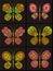 Stock Image :  Орнамент в форме бабочек