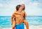 Stock Image : пары пляжа