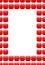 Stock Image :  Рамка рубинов Красная коробка с космосом для текста драгоценные камни moonstone минирования
