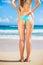 Stock Image :  Сексуальная женщина в малом бикини на пляже