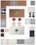 Stock Image : Собрание кухни плана здания