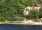 Stock Image :  Современный дом около берега озера