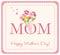 Stock Image : Счастливая карточка Дня матери