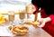 Stock Image : Сладостное питье печенья и напитка закуски
