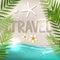 Stock Image :  Слово перемещения на тропическом пляже