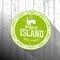 Stock Image :  Тропическая бирка острова