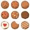 Stock Image : Установленные печенья обломока шоколада
