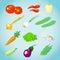 Stock Image :  установленные различные овощи