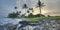 Stock Image : утро kona острова Гавайских островов большого свободного полета предыдущее