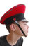 Stock Image :  军用盖帽的逗人喜爱的男孩