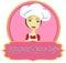 Stock Image :  厨师与横幅的妇女商标