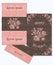 Stock Image :  套贺卡和信封在一个豪华葡萄酒样式