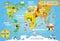 Stock Image : 孩子的世界地图