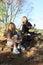 Stock Image :  孩子-投入在袜子和鞋子的女孩