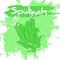 Stock Image :  导航手菜的图画例证与标签和艺术性的水彩飞溅和刷痕的 菠菜