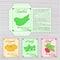 Stock Image :  导航种子小包可印的模板与图象、菜的名字和描述的在木背景的 包含夏南瓜, pum