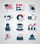 Stock Image :  投票和竞选纸裁减象