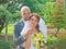 Stock Image :  新娘和新郎画象在公园