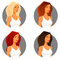 Stock Image :  有另外头发颜色的少妇