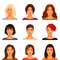 Stock Image :  有各种各样的发型的少妇
