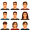 Stock Image :  有各种各样的发型的年轻人