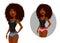 Stock Image :  有自然头发的逗人喜爱的非裔美国人的女孩