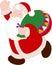 Stock Image : 有袋子的圣诞老人