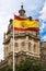 Stock Image :  有西班牙旗子的托莱多大教堂
