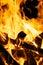 Stock Image : 灼烧的木柴
