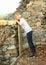 Stock Image :  观看在栏杆的女孩