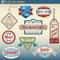 Stock Image : 证章减速火箭的集葡萄酒