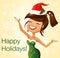 Stock Image :  跳舞圣诞老人帮手
