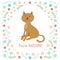 Stock Image :  逗人喜爱的小的猫传染媒介例证