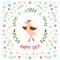 Stock Image :  逗人喜爱的小的鸟传染媒介例证