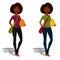 Stock Image :  逗人喜爱的非裔美国人的学生女孩
