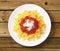 Stock Image :  面团farfalle用西红柿酱和乳酪