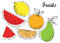 Stock Image : Απεικόνιση φρούτων στο διάνυσμα