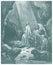 Stock Image : Даниель в эскизе вертепа львов