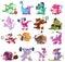 Stock Image : Динозавры играя спорт