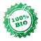 Stock Image : 100% Bio stamp
