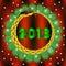 Stock Image : 2013 avec le serpent et le sapin. Vecteur.