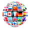 Stock Image : 3d sphere with world flags