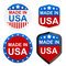 Stock Image : 4 stickers - Made in USA