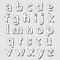 Stock Image : ABC lowercase bloated alphabet letters set
