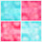 Stock Image : Abstract aquamarine and pink geometric backgrounds