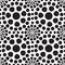 Stock Image : Abstract background with black and white circles. Seamless pattern