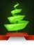 Stock Image : Abstract christmas tree design swirl
