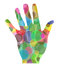 Stock Image : Abstract colorful hand